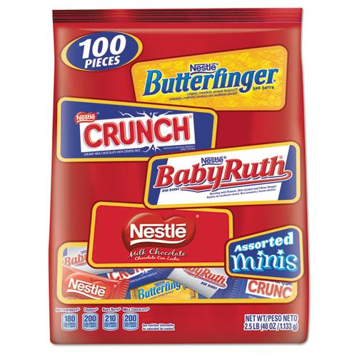 Nestlé® Assorted Chocolate Miniatures, 2.5 lb Bag