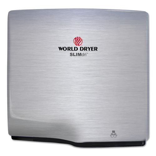 WORLD DRYER® SLIMdri Hand Dryer, Stainless Steel, Brushed