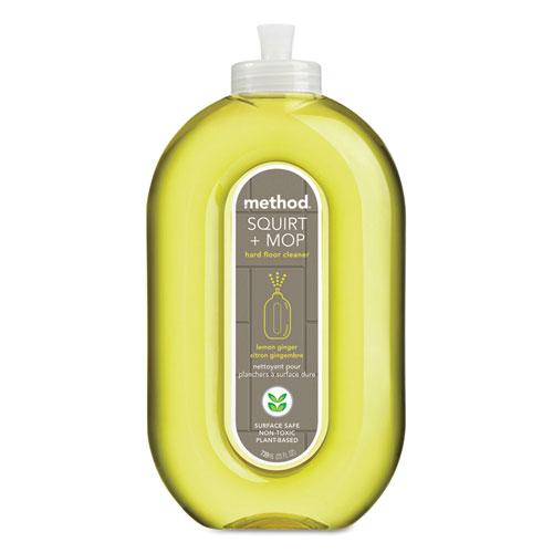 Squirt  Mop Hard Floor Cleaner, 25 oz Spray Bottle, Lemon Ginger, 6/Carton