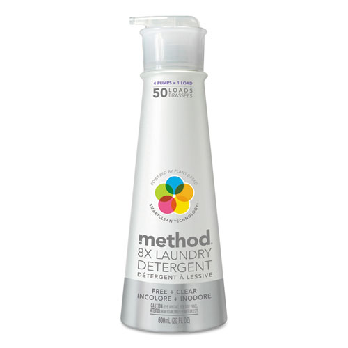 Method® 8X Laundry Detergent, Free & Clear, 20 oz Bottle