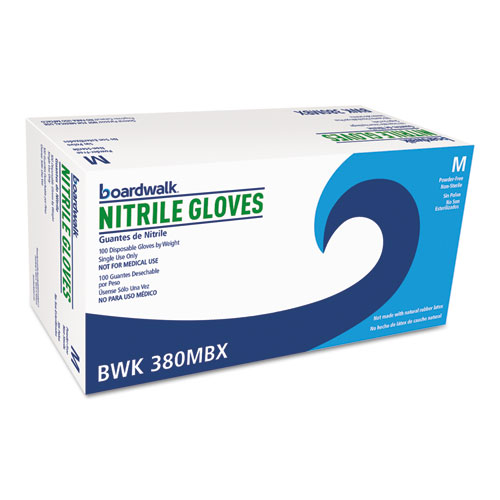 Disposable General-Purpose Nitrile Gloves, Medium, Blue, 100/Box