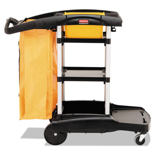 High Capacity Cleaning Cart, 21.75w x 49.75d x 38.38h, Black