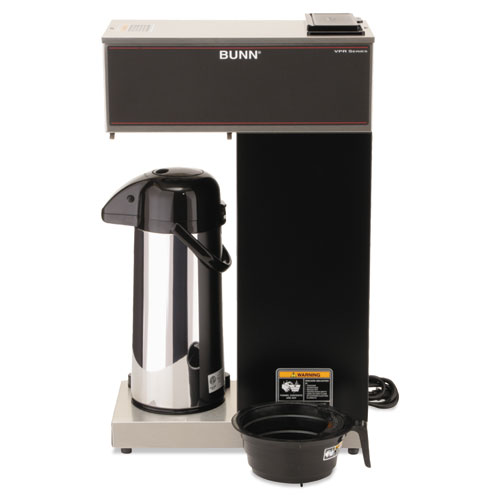 BUNN VPR-APS Pourover Thermal Coffee Brewer with 2.2L Airpot, Stainless Steel, Black BUNVPRAPS ...