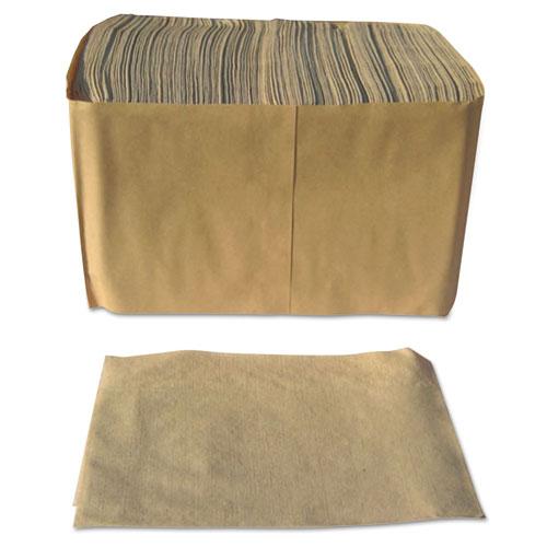 "Paper Source Converting Dispenser Napkins, Paper, 1-Ply, 13"" x 12"", Brown, 6000/Carton"