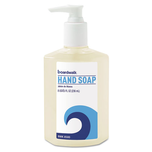 Boardwalk® Liquid Hand Soap, Floral, 8oz Pump Bottle, 12/Carton