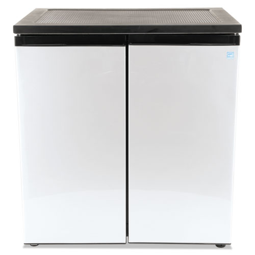 5 5 Cf Side By Side Refrigerator Freezer Black Stainless