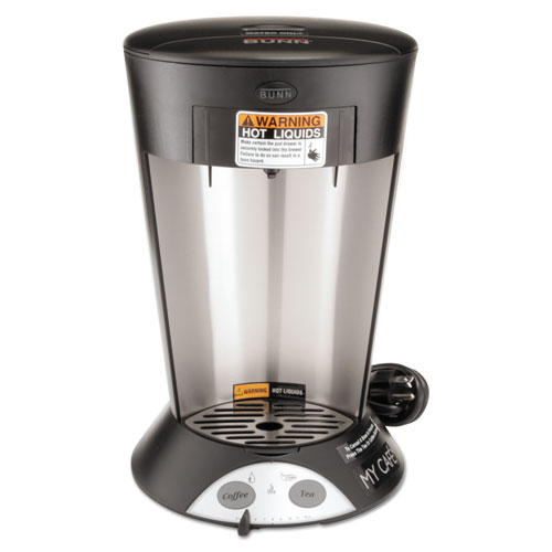 BUNN My Cafe Pourover Commercial Grade Coffee/Tea Pod Brewer, Stainless Steel, Black BUNMCP ...