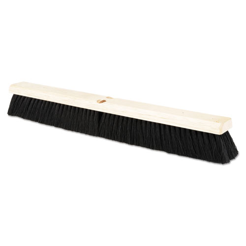 "Floor Brush Head, 2 1/2"" Black Tampico Fiber, 24"" 