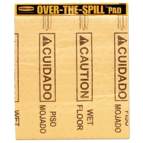 Over-The-Spill Pad Tablet with Medium Spill Pads, Yellow, 22/Pack