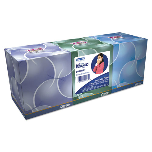 Boutique Anti-Viral Tissue, 3-Ply, Pop-Up Box, 68/Box, 3 Boxes/Pack