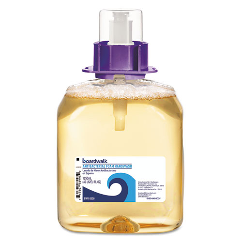 Boardwalk® Foam Antibacterial Handwash, Fruity, 1250mL Refill, 4/Carton