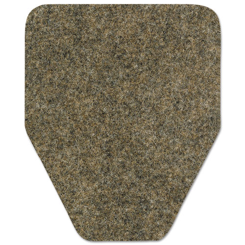 WizKid Antimicrobial Floor Mat, Commode, 27 x 25, Black, 28/Carton