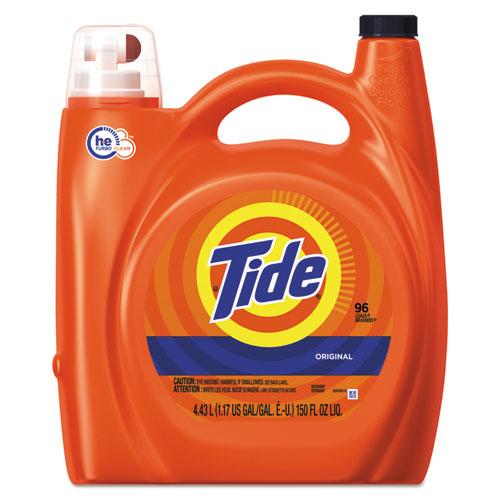 Tide® HE Laundry Detergent, Original Scent, 150 oz Pump Bottle, 4/Carton