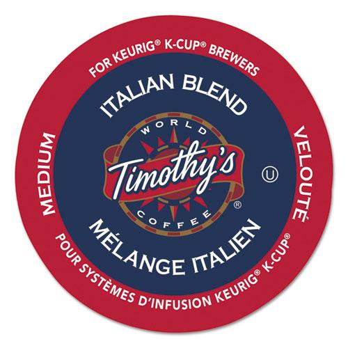 Timothy's World Coffee Italian Blend Coffee K-Cups, 24/Box