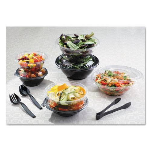 WNA Caterline Pack n' Serve Plastic Bowl, 160 oz, Black, 25/Case