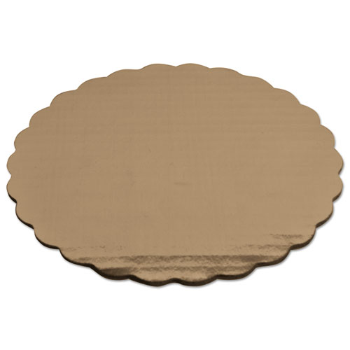 Cake Pad, Gold, 8 Diameter, Mylar, 200/Carton