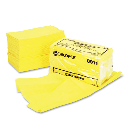 Masslinn Dust Cloths, 24 x 24, Yellow, 50/Bag, 2 Bags/Carton | by Plexsupply