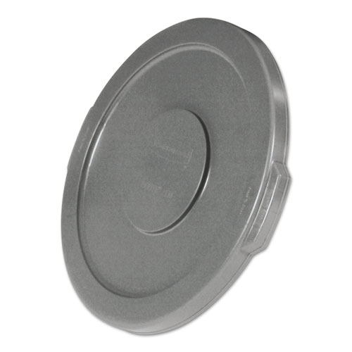 """Round Flat Top Lid, for 10 gal Round BRUTE Containers, 16"""" diameter, Gray"""