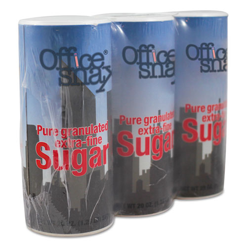 Reclosable Canister of Sugar, 20 oz, 3/Pack | by Plexsupply
