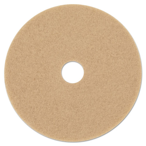 Ultra High-Speed Floor Burnishing Pads 3400, 19 Diameter, Tan, 5/Carton