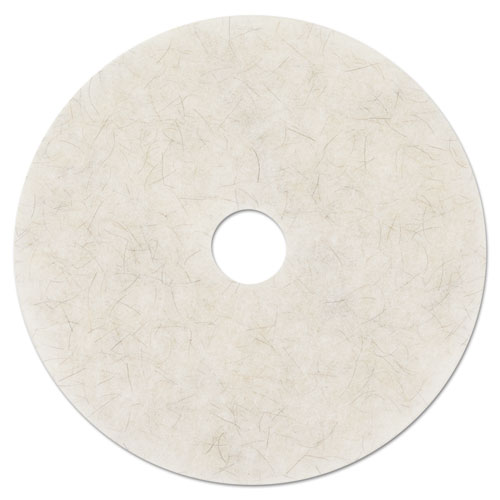 """3M™ Ultra High-Speed Natural Blend Floor Burnishing Pads 3300, 19"""" Dia., White, 5/CT"""