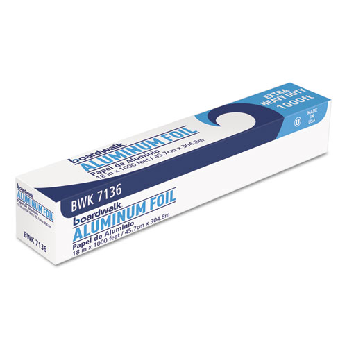 Heavy-Duty Aluminum Foil Roll, 18 x 1,000 ft