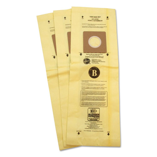 Disposable Vacuum Bags, Allergen B, 3PK/EA | by Plexsupply