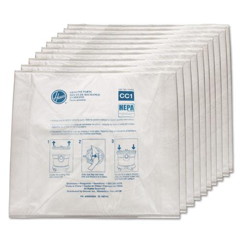 Disposable Vacuum Bags, Hepa CC1, 10PK/EA | by Plexsupply