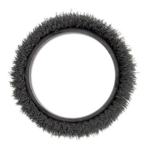Orbiter Grit Scrub Brush, 13 dia, Gray