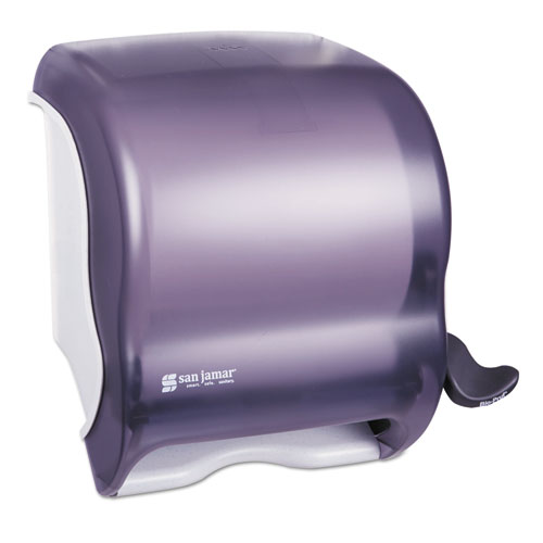 San Jamar® Element Lever Roll Towel Dispenser, Classic, 12.5 x 8.5 x 12.75, Black Pearl