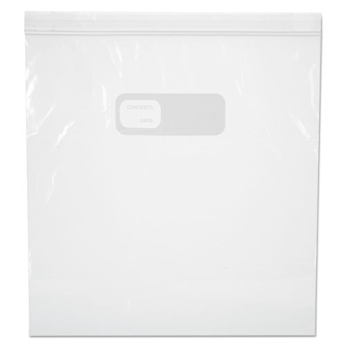 Reclosable Food Storage Bags, 1 gal, 2.7 mil, 10.5 x 11, Clear, 250/Box