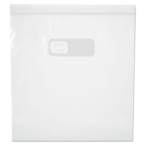 Reclosable Food Storage Bags, 1 gal, 1.75 mil, 10.5 x 11, Clear, 250/Box