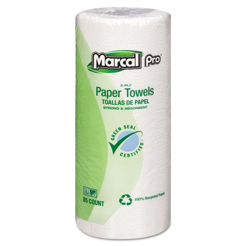 Perforated Kitchen Towels, White, 2-Ply, 9x11, 85 Sheets/Roll, 30 Rolls/Carton