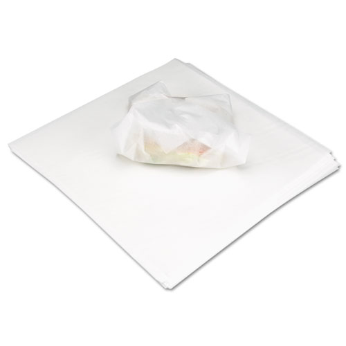 Marcal® Deli Wrap Dry Waxed Paper Flat Sheets, 12 x 12, White, 5000/Carton