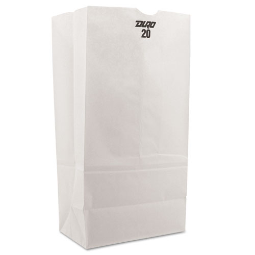 """General Grocery Paper Bags, 8.25"""" x 16.13"""", White, 500 Bags"""
