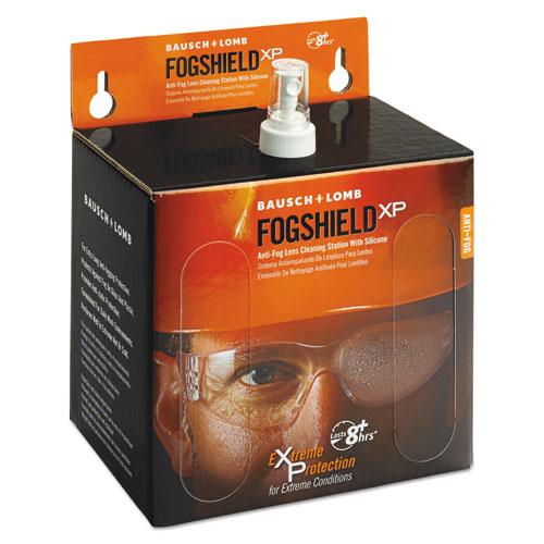 FogShield Disposable Lens Cleaning Station, 12 oz Bottle, 1,425 Tissues/Box