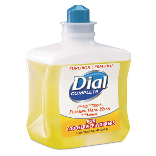 Dial® Professional Antimicrobial Foaming Hand Soap, For Foodservice Workers, 1 Liter, 4/Carton