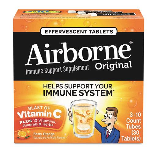 Airborne® Immune Support Effervescent Tablet, Zesty Orange, 30 Count