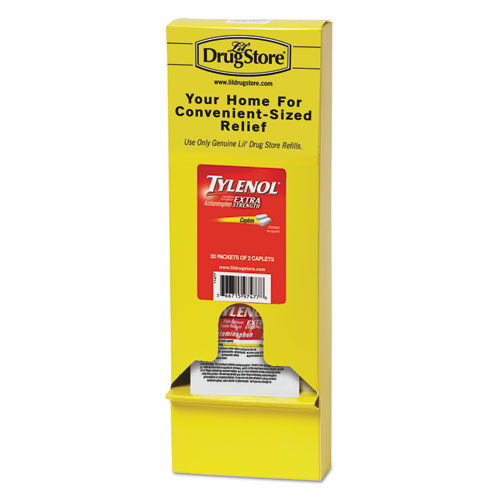 Tylenol® Acetaminophen, 500mg, Extra Strength Caplets, Refill, 2 /Packet, 30 Packs/Box