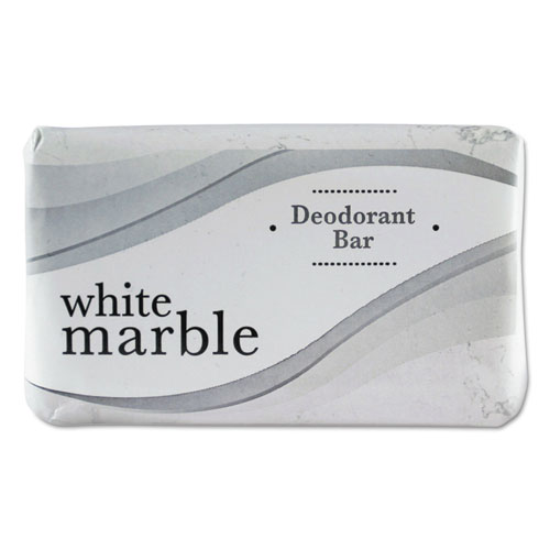 Individually Wrapped Deodorant Bar Soap, White,  3 Bar, 200/Carton