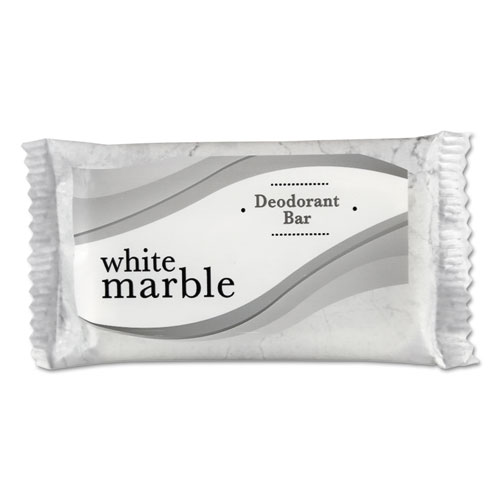 Individually Wrapped Deodorant Bar Soap, White,  3/4 Bar, 1000/Carton