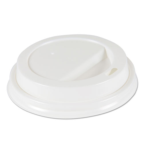 Deerfield Hot Cup Lids for 10oz - 16oz Cups, White, Plastic, 50/PK, 20 PK/Carton DEERHLIDW