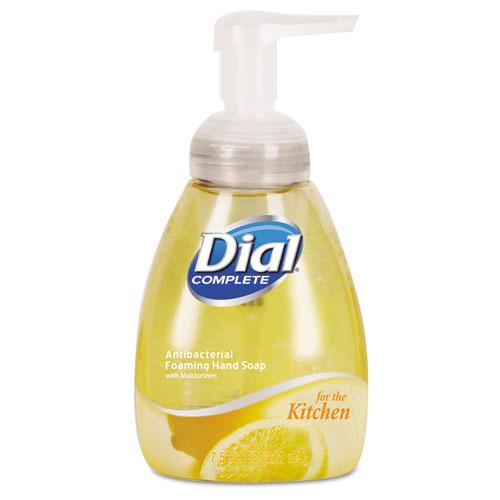 Dial® Professional Antimicrobial Foaming Hand Wash, Light Citrus, 7.5oz Pump Bottle, 8/Carton