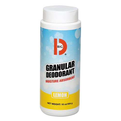 Granular Deodorant, Lemon, 16 oz, Shaker Can, 12/Carton