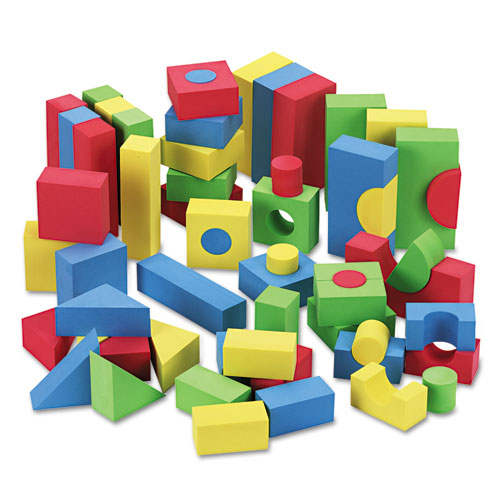 Blocks, Assorted Colors, 68/Pack | by Plexsupply
