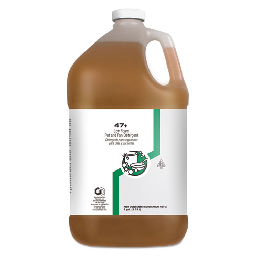 US Chemical Low Foam Pot and Pan Cleaner, 1 gal Bottle, 4/Carton