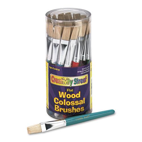 Creativity Street® Colossal Brush, Natural Bristle, Flat, 30/Set