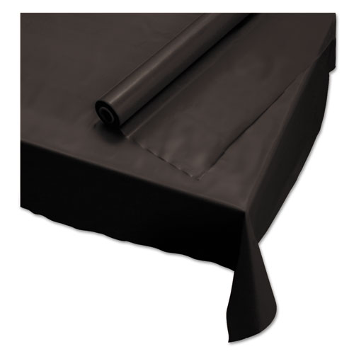 Plastic Roll Tablecover, 40 x 100 ft, Black