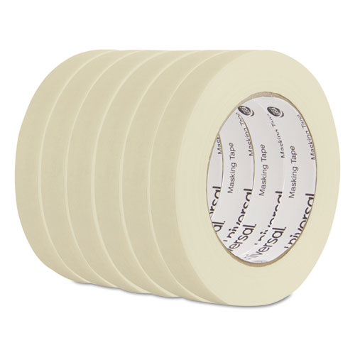 General Purpose Masking Tape, 18mm x 54.8m, 3in. Core, 6/Pack 51334