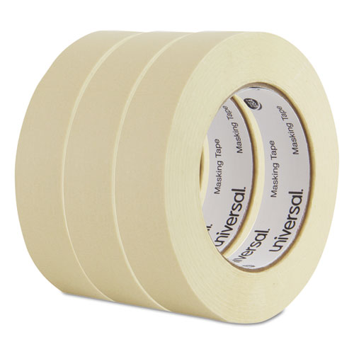 "General Purpose Masking Tape, 24mm x 54.8m, 3"" Core, 3/Pack"